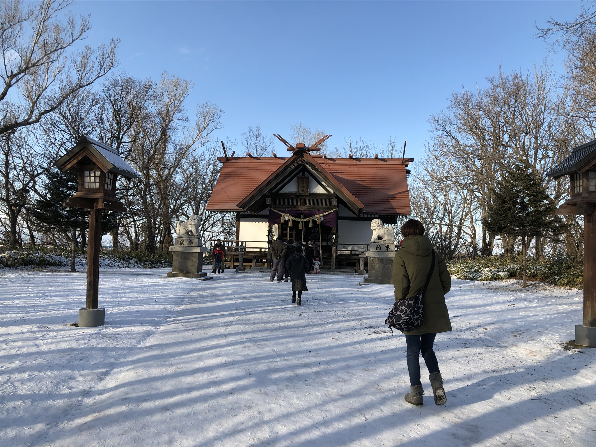 斜里神社初詣