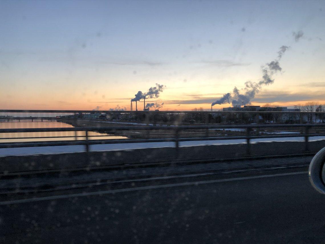 釧路の夕焼け