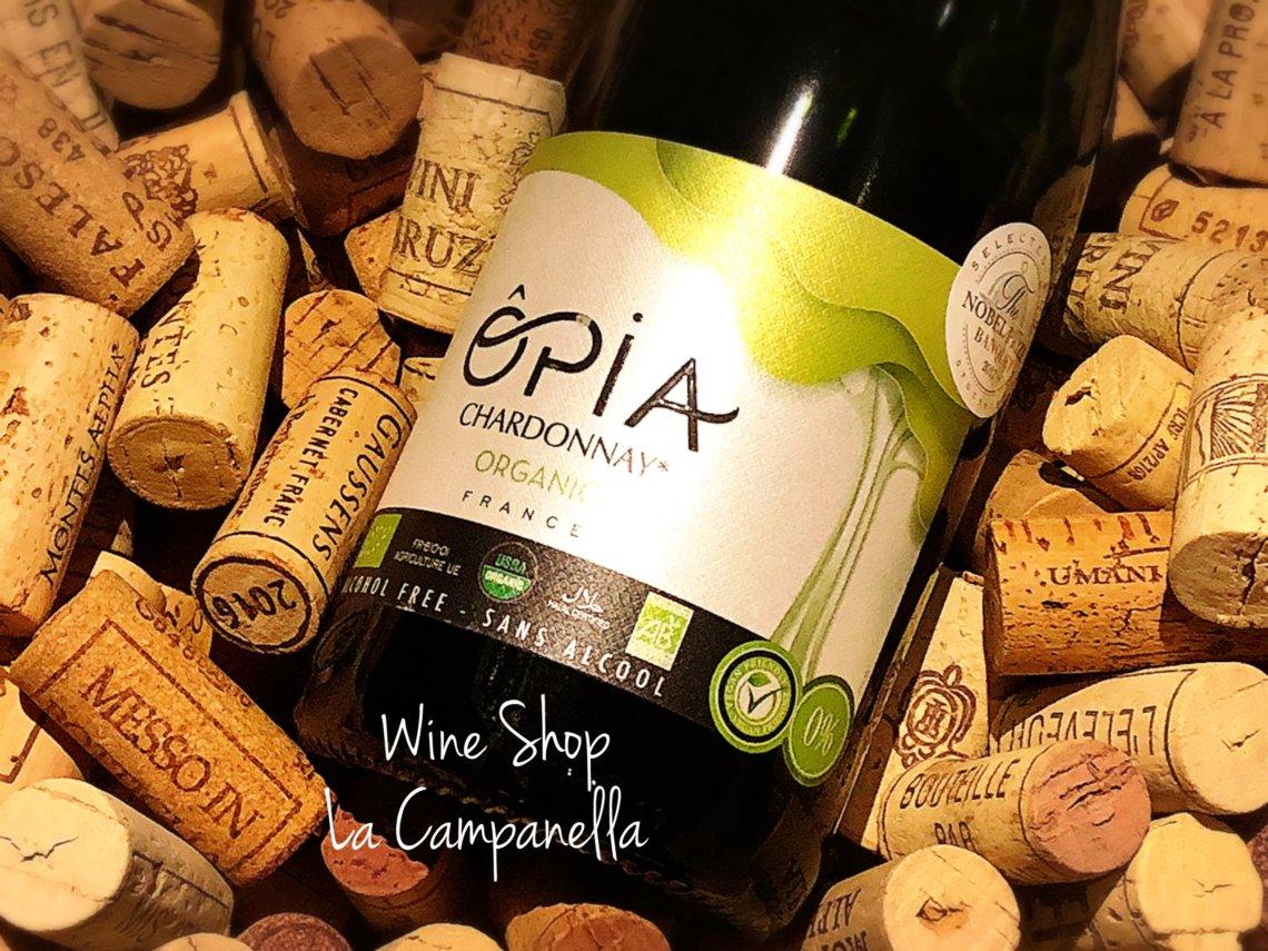 Opia Chardonnay Sparkling Organic Non-Alcohol Domaine Pierre Chavin