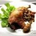 ビュルゴー家シャラン鴨骨付きもも肉のコンフィレンズ豆を添えて